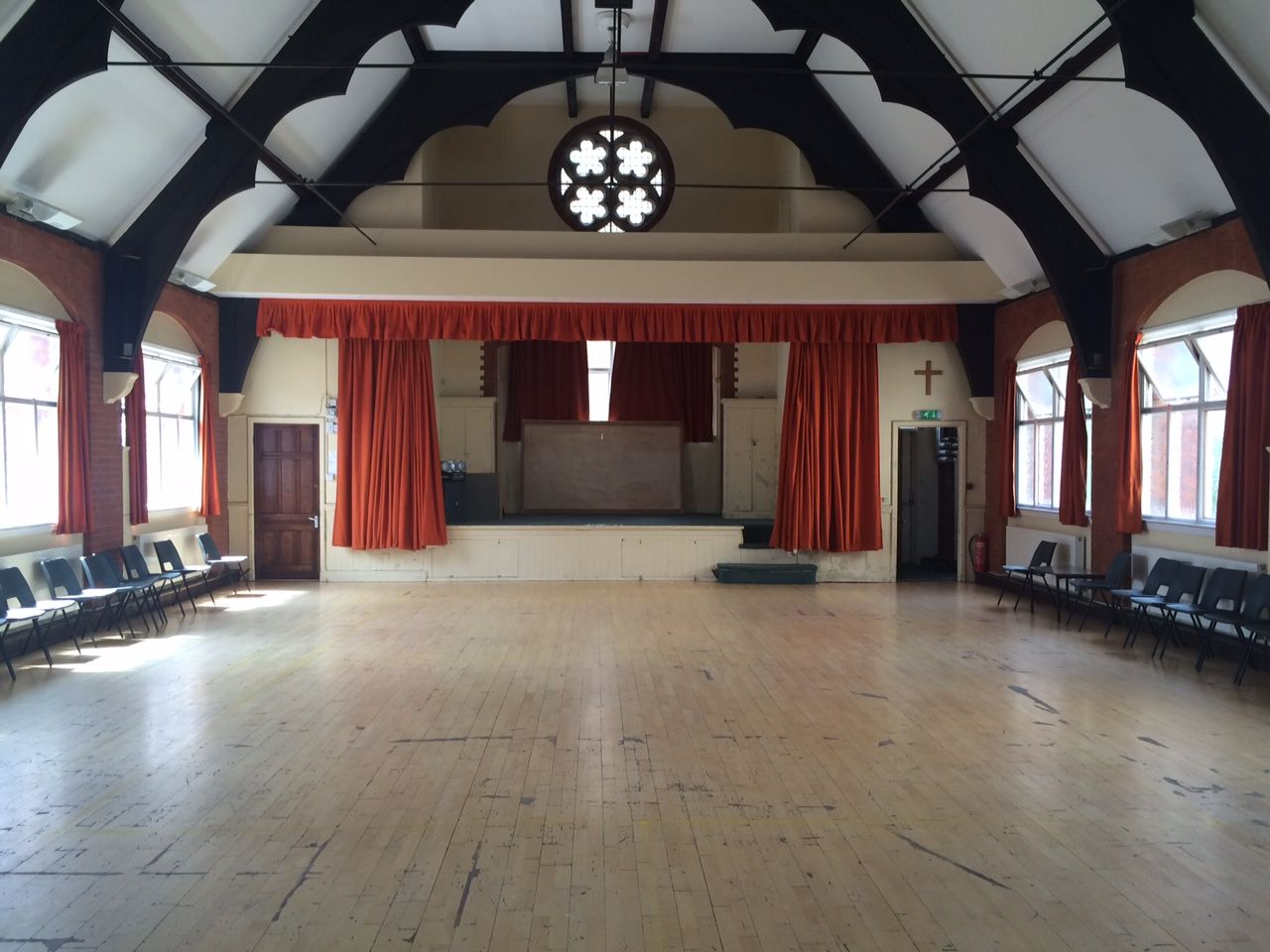 Upper Hall facing stage